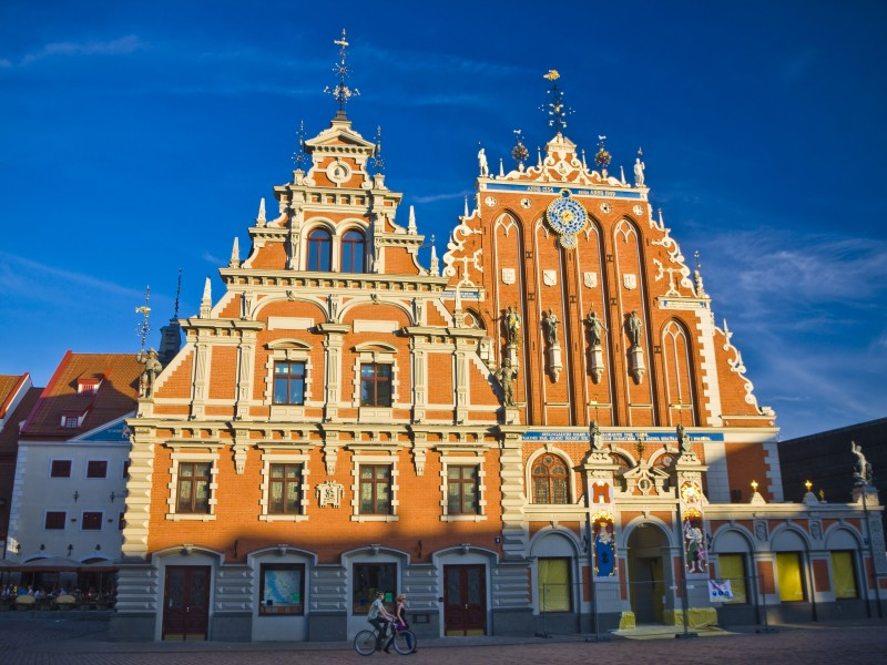Blackheads House on the Town Hall square, Riga, Latvia