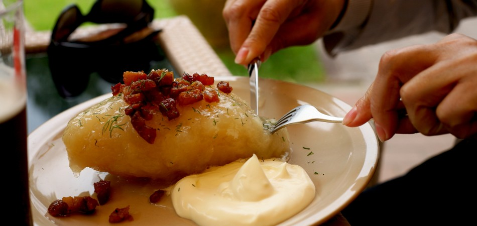 Lithuanian national dish of zeppelin